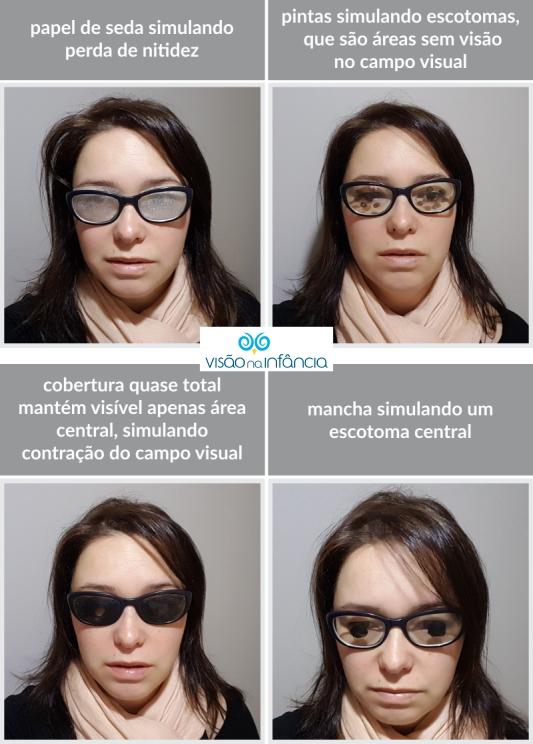 experimento de alterações visuais em pessoas com baixa visão