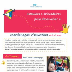 Guia de atividades de coordenação visomotora de 0 a 5 anos
