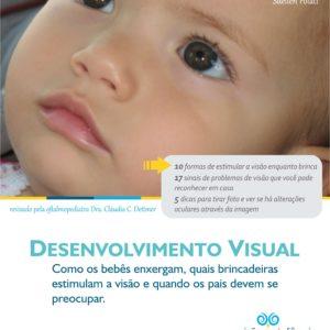 eBook sobre o desenvolvimento visual e os cuidados com a visão na infância