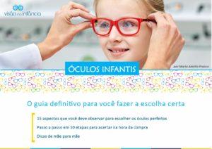 eBook com orientações para escolha de óculos infantis