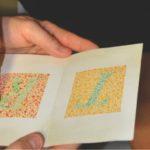 Exame de vista: teste de percepção cromática