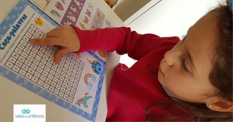atividade pedagógica de rastreamento visual