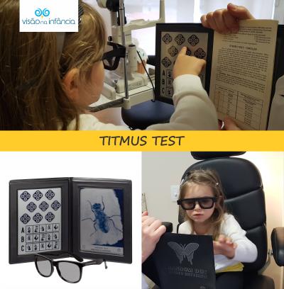 exame oftalmológico para avaliar a visão binocular