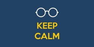 keep calm na hora da criança usar oculos