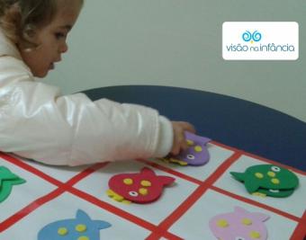 recurso de pareamento e justaposição para estimulação visual