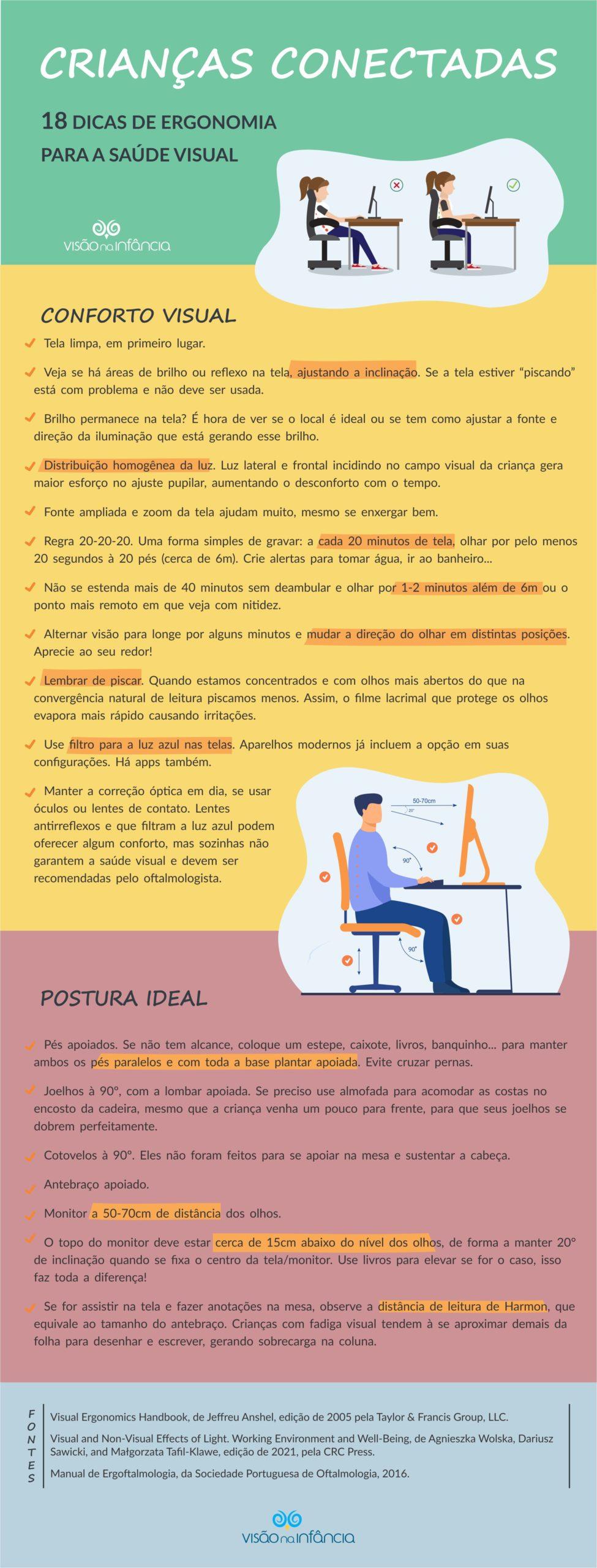 checklist com 18 passos para saúde visual