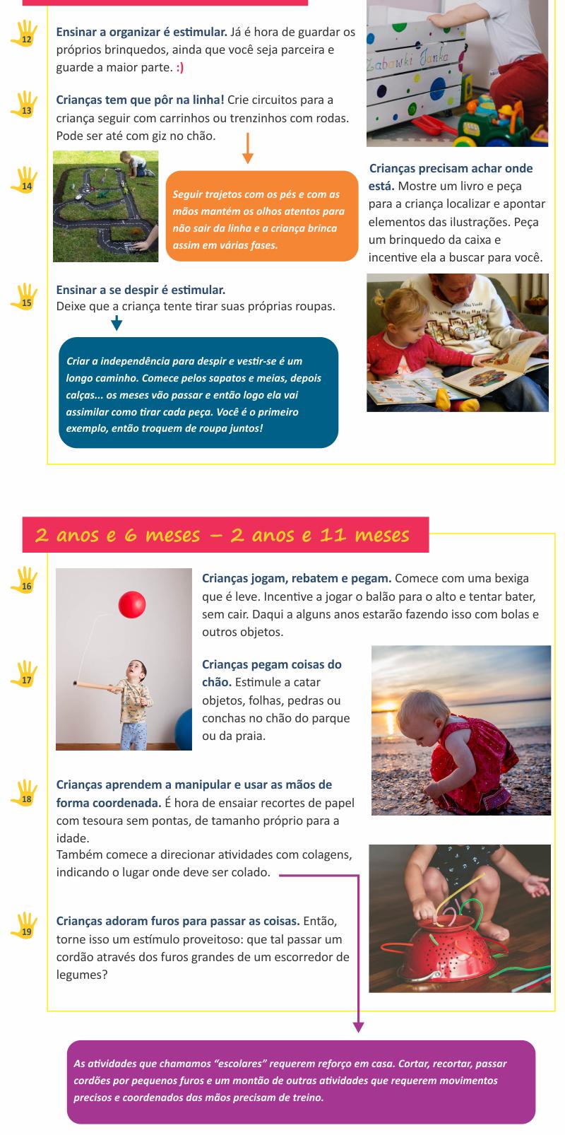 Guia de atividades de coordenação visomotora